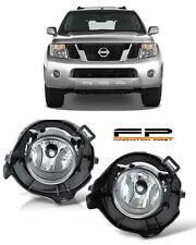 For 05-12 Nissan Pathfinder Clear Replacement Fog Light Housing Assembly Pair