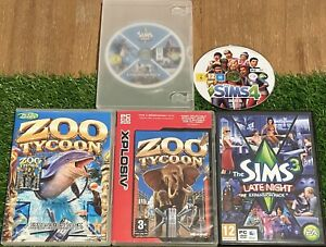 PC x5 GAME BUNDLE SCRATCHED FOR REPAIR UNTESTED THE SIMS 3 Expansion ZOO TYCOON