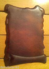 Pergamena in Alluminio e cuoio marrone scuro Per incisione o decorazione