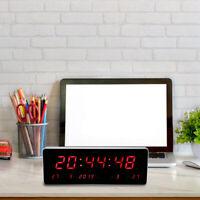 LED Digital Large Big Jumbo Clock Wall Living Room Desk Calendar Temp Clock