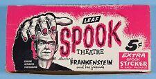 SPOOK STORIES/THEATRE 1961 Leaf Series 1 Original Vintage GUM CARD DISPLAY BOX