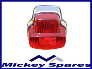 New Rear Back Light Chrome Vespa VBB VNB Sprint PX 80 125 150 200