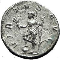 PHILIP I  the Arab 244AD Rome Silver  Ancient Genuine Roman Coin VIRTUS i59158