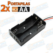 PORTAPILAS 2x AA R6 3v con cable alimentacion PCB battery holder