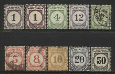 Malayan Postal Union Collection 10 Stamps Mounted Mint + Used