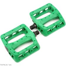 "Odyssey Twisted PC 9/16"" Bike Platform Pedals BMX MTB Hybrid - Kelly Green"