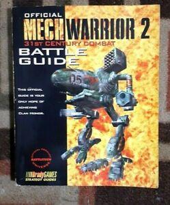 Mechwarrior 2 31ST Century Combat Bradygames Official Strategy Battle Guide