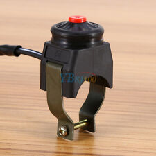 """7/8"""" 22mm Black Kill Stop Handlebar Switch Horn Button For Motorcycle Quad ATV"""