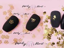 50 pcs Nail supply flat Gold Metallic studs Nail Art Chips Flakes