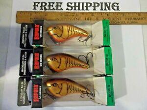 3 Rapala OGS-6 Ott's Garage Slim 6 Crankbait Fishing Lure Dark Brown Crawdad LOT