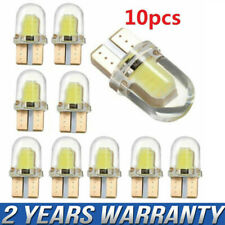 10PCS T10 194 168 W5W COB 4SMD LED CANBUS Silica Bright White License Light Bulb