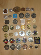 40 NASA / space medals with space flown material! Apollo Shuttle Mercury Skylab