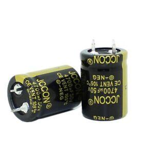 50v4700uf JCCON audio amplifier power adapter filter capacitor 22x30