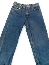 GAP Size 12 Boy's Blue Jeans Cotton Boot Cut Light Wash Zipper Fly Loose Fit