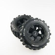 Rear Knobby tire wheel assembled for hpi rv baja 5t 5sc 195mm x 80mm