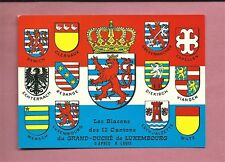 Unused Postcard - Coats Of Arms Of The 12 Cantons Of Luxembourg
