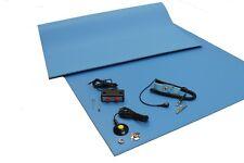 3 Layer Vinyl ESD Anti-Static Mat kit-Dual Bench/Wrist Strap-18X24-Free Shipping