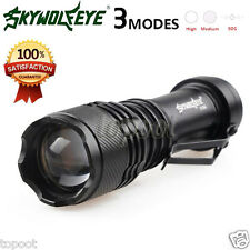 Super Bright 5000LM  Q5 AA/14500 3 Modes ZOOMABLE LED Flashlight Torch Lamp