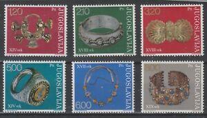 Yugoslavia 1975 #1235-40 Antique Jewelry in Yugoslav Museums - MNH