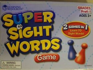 Learning Resources Super Sight Words Game Grade Prek -1 Ages 3+ Used Good
