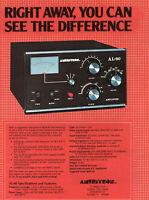 Ameritron AL-80 Kilowatt Radio Amplifier Amateur Radio Amp   Vtg  Print Ad