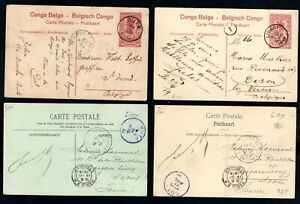 Belgian Congo - 1913-1919 4 x Vintage Postcards