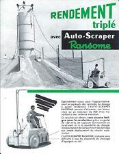 Equipment Brochure - Ransome Auto-Scraper Mini Dragline FRENCH lang (E4464)