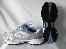 Saucony Grid Aura TR5 Damen Laufschuhe weiß-grau-blau EU 41 US 9,5