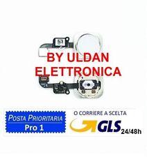 TASTO CENTRALE HOME Pulsante COMPLETO FLAT PER APPLE IPHONE 6 / 6 PLUS BIANCO
