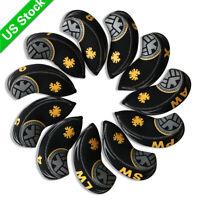 USA Long Neck Golf Iron Headcovers Eagle Club Covers Yellow Black For Mizuno 11X