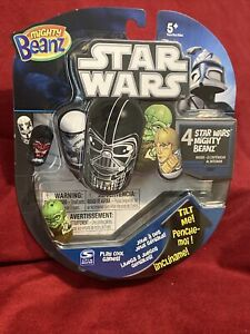 STAR WARS Mighty Beanz 4 Pack With RARE YODA On Front 2010 New Unopened!