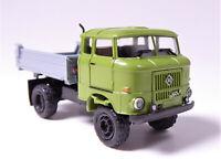 H0 BUSCH IFA W 50 LA 3 Seitenkipper Speditionskabine grün grau DDR # 95238