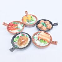 1:12 Puppenhaus Miniatur Auflauf Claypot Reis Essen Modell DIY Küche Ornament