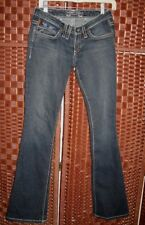 Robins jeans 26 jr Zippers boot cut turquoise angel wings Motorcycle 26X32
