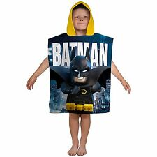 LEGO BATMAN MOVIE HOODED PONCHO TOWEL OFFICIAL BOYS TOWEL COTTON NEW