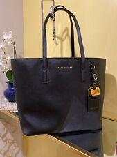 NWT Marc by Marc Jacobs Black Faux Leather Luggage Tag Tote Bag MSRP $ 295