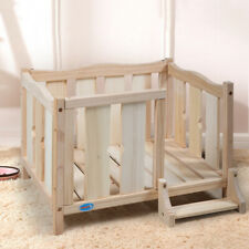 New listing Dog House Bed Elevated Open Wooden Dog Bed Frame Furniture Cat House w/ Ladder