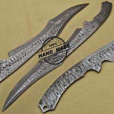 Damasco Cuchillo de Hoja Bowie en Blanco Hecho a Mano Hacer Acero Damasco Cuchillo 1687