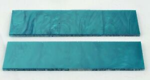 """KIRINITE TEAL PEARL 1/8"""" Scales for Knife Making Woodworking Bushcrafts Inlays"""