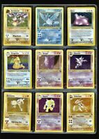 COMPLETE Pokemon Fossil Set 62/62 NM-Mint, 18 1st Edition