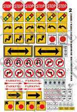 SCALELIKE INDUSTRIES HO-ROADWAY SIGNS 2 (HORS-2) PRINTED ON PLASTIC FACTORY NEW