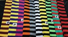 STRIPED OVER THE KNEE SOCKS STRIPY THIGH HIGH FANCY DRESS LADIES GIRLS HALLOWEEN