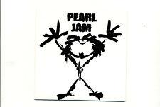 Pearl Jam Stickman Canada Cardboard Slip Promo CD 4 Tracks MINT CONDITION Rare