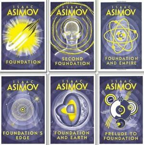 isaac asimov foundation series 6 books collection set - (foundation,foundation a