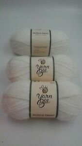 """3 Skeins Yarn Bee Alpaca Twist White """"Lace Doilies/01 Color"""