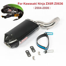 For Kawasaki Ninja ZX6R ZX636 2004-2008 Motorcycle Carbon Fiber Exhaust Mid Pipe