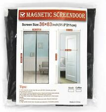 Magnetic Screen Door with Heavy Duty Mesh Curtain and Full Frame Velcro Fits