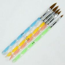 5x Mix Colore Nail Art UV Set Pennelli Penne Unghie Finte Painting Lucido