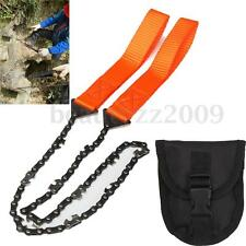 Portable Survival Chain Saw Chainsaw Emergency Camping Pocket Hand Tool Pouch