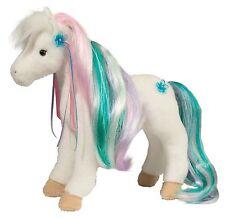 """Douglas RAINBOW PRINCESS HORSE 12"""" Plush Stuffed Pony Brushable Mane & Tail NEW"""